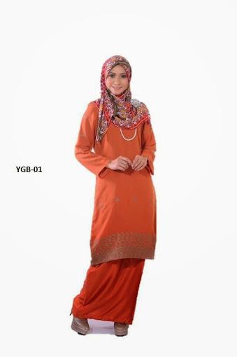 baju kurung moden coklat keemasan gold brown baju raya 2014 murah online