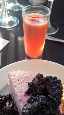 Raspberry Spritzer to go with the Boysenberry cassata, yuzu butter chiffon cake, soft cream, boysenberry sauce at the Lifewise Oregon Berry Festival Gala Berry Dinner 2015
