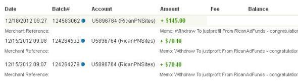 Bukti Pembayaran dari RicanAdFunds 12
