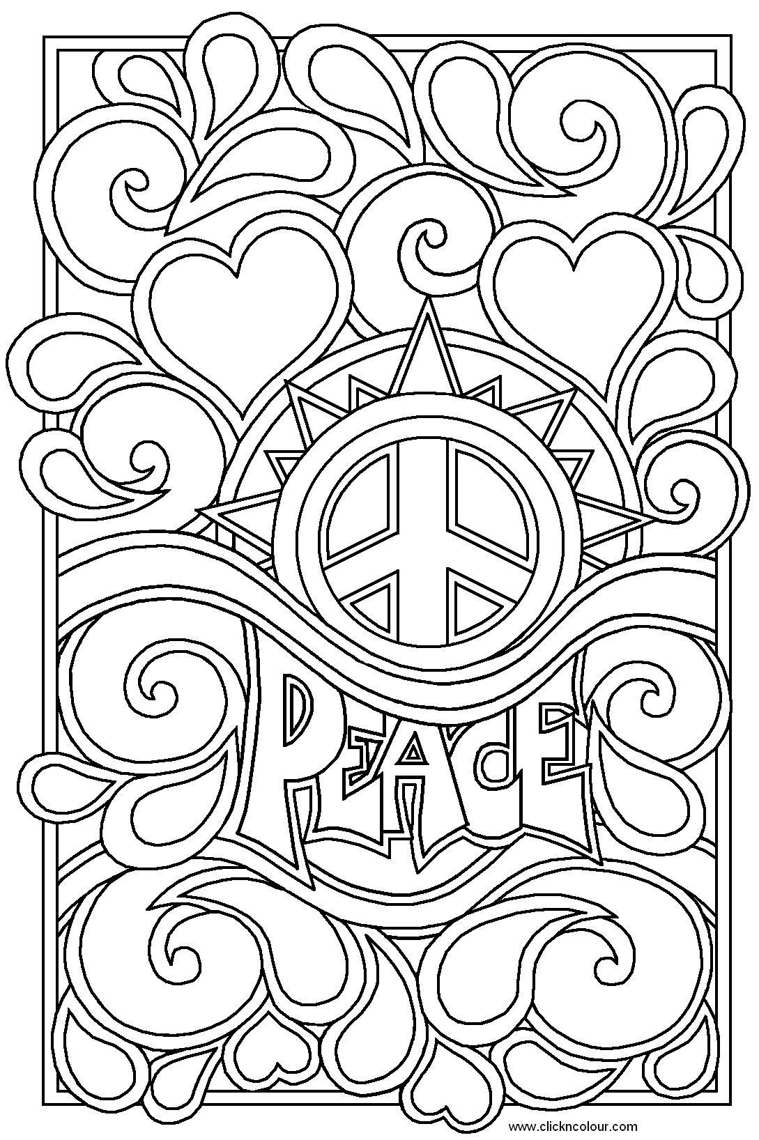 Best 15 peace and love coloring pages pictures for Go sign coloring page