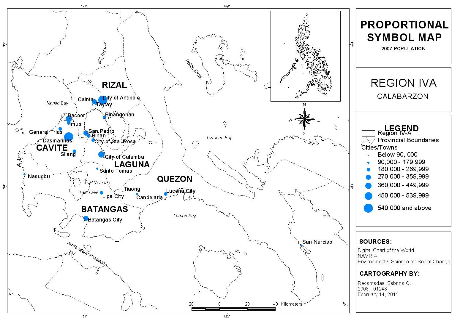 Sab S World Proportional Symbol Map Of Calabarzon