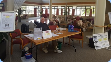 Russ Boyes manning the NSOKC Information Desk.