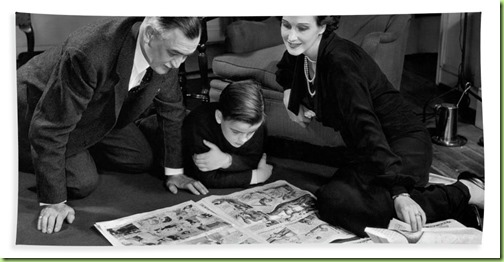 family-reading-sunday-comics-c1930-40s-h-armstrong-robertsclassicstock
