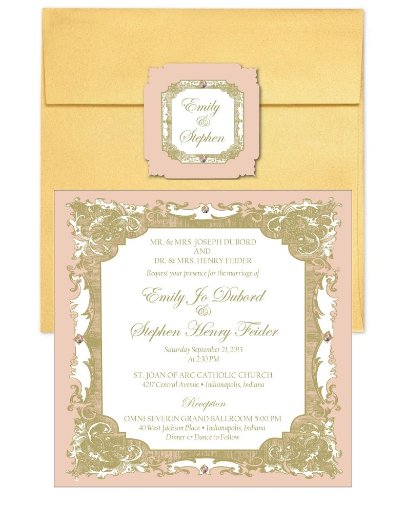Emily and Stephen Wedding Stationary