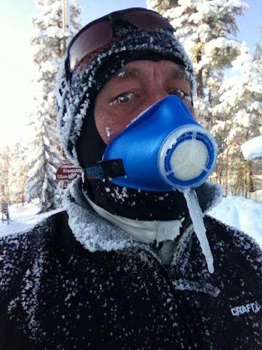 Efter 25 km i -26 grader såg jag ut så här.