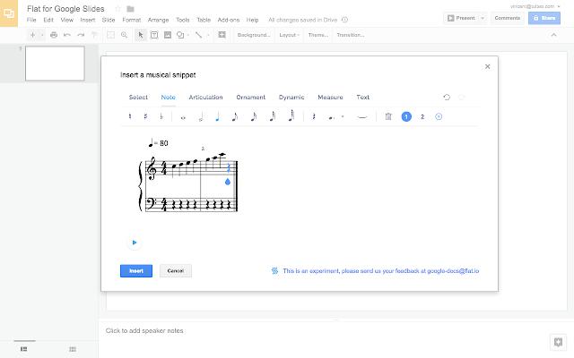 Flat for Slides - Music notation – Google Slides Add-On