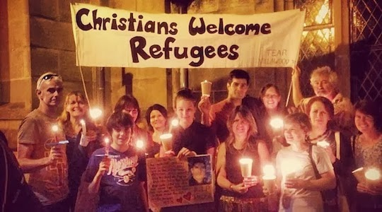 Christians welcoming refugees