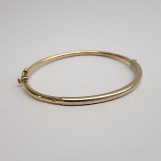 14K Gold Cylindrical Bracelet