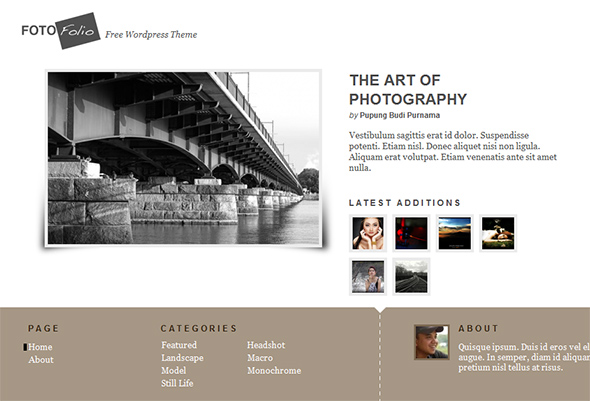 Aware Portfolio WordPress Theme for Photographers
