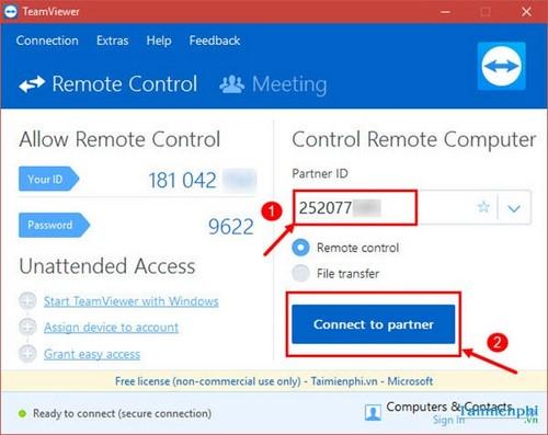 Hướng dẫn cách điều khiển điện thoại từ xa bằng TeamViewer