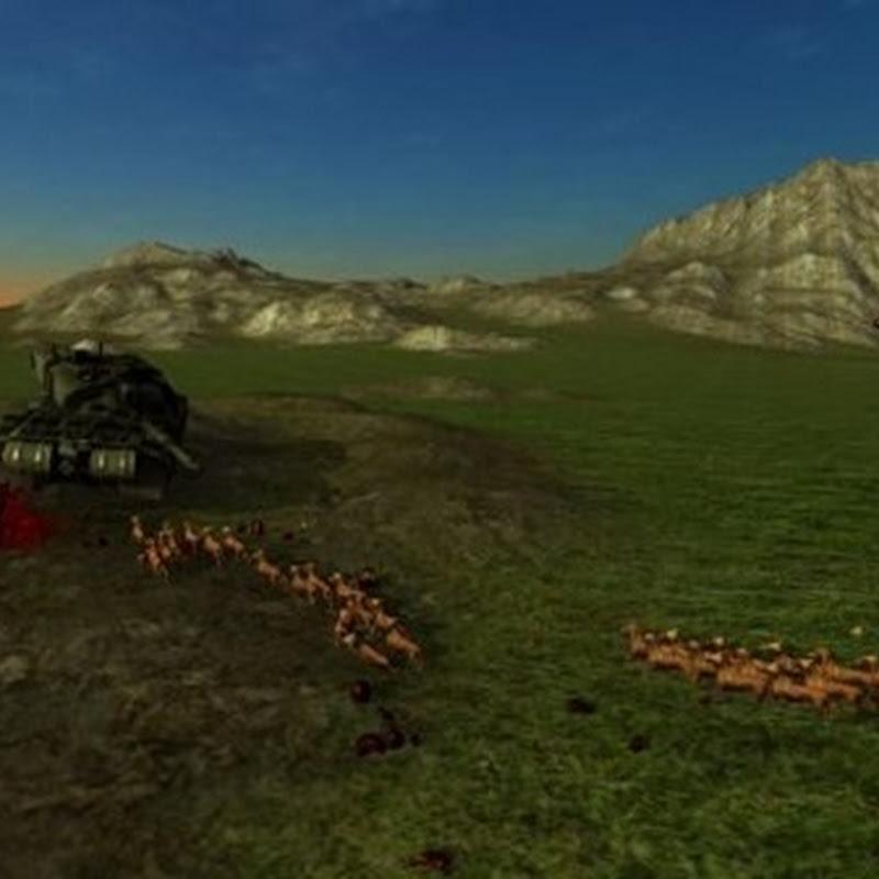 Ich ließ in Beast Battle Simulator ein ganzes Rudel Hunde gegen einen Panzer kämpfen, was ich sehr bedauere