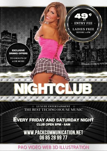 création flyer soirée thème Night Club