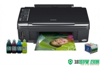 How to reset flashing lights for Epson TX119 printer