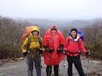 """If we don't walk in the rain, we won't make it to Maine!"""