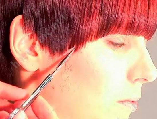 Day cat toc nu co ban huong dan cat toc mai 13 Dạy cắt tóc nữ cơ bản, Kiểu tóc ngang chúi tầng thấp