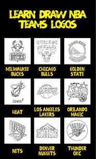 Learn Draw NBA Teams Logos - náhled