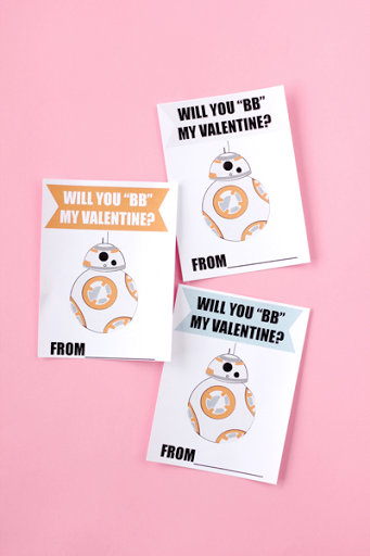 graphic about Lightsaber Valentine Printable identified as 30 Absolutely free Printable Star Wars Valentines - The Kim 6 Restore