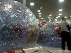 Deflating the hamster balls.