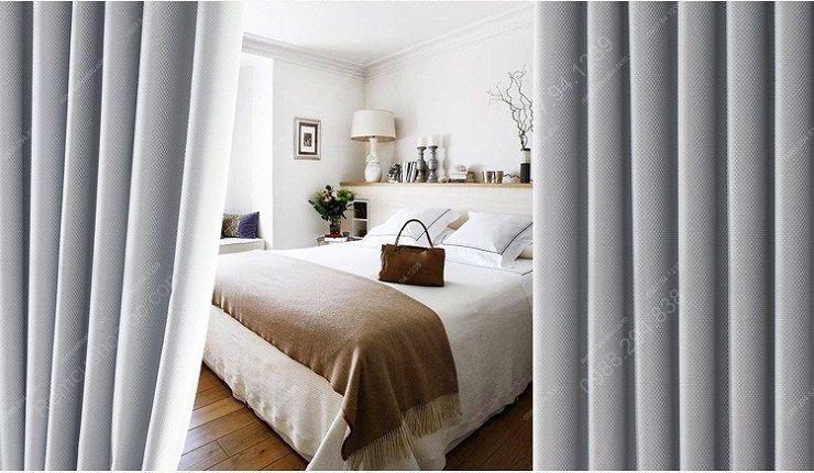Rèm cửa đẹp hà nội một màu xám bạc sang trọng 6