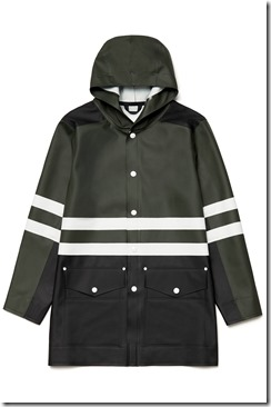 03 Stutterheim x Marni - Men FW 17-18  Stripe Coat Green Black