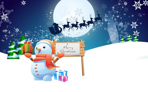 besplatne Božićne pozadine za desktop 1920x1200 free download čestitke blagdani Merry Christmas snjegović Djed Mraz