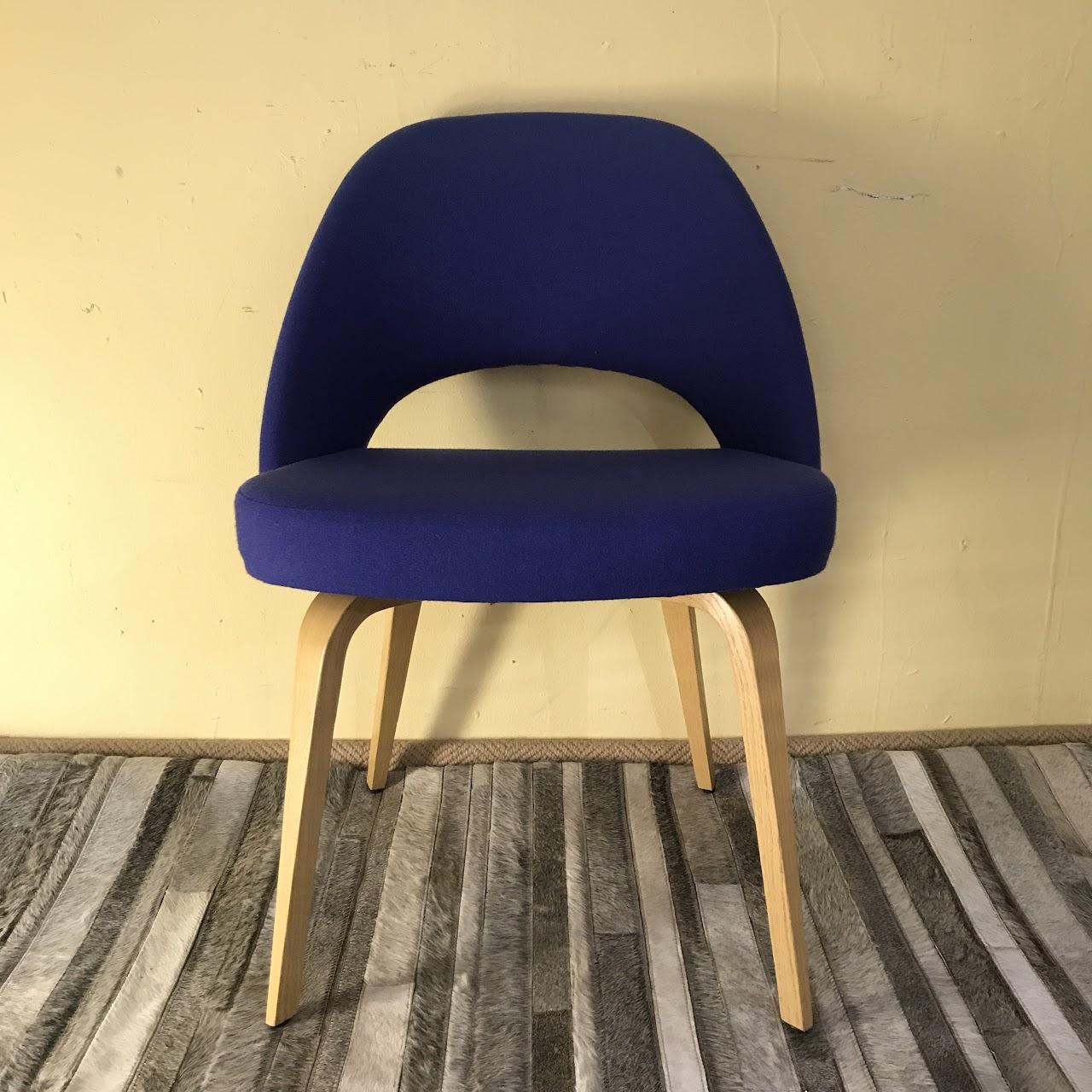 Knoll Saarinen Executive Armless Chair In Blue 1