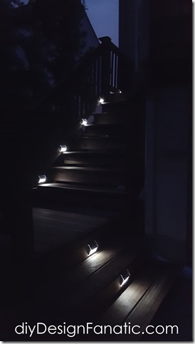 solar lights, stairs, diy, farmhouse, cottage, easy, amazon.com