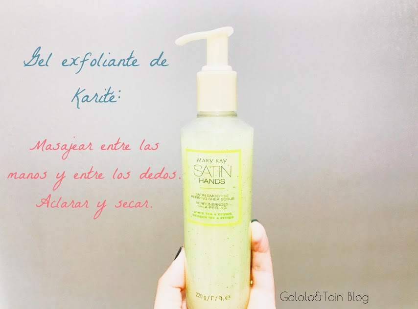 Gel exfoliante del set de manos de Mary Key