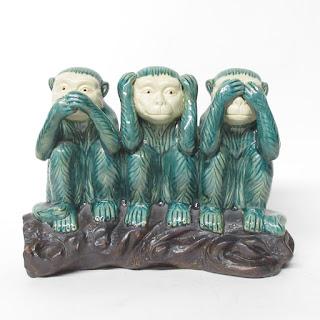 Three Wise Monkeys Statue