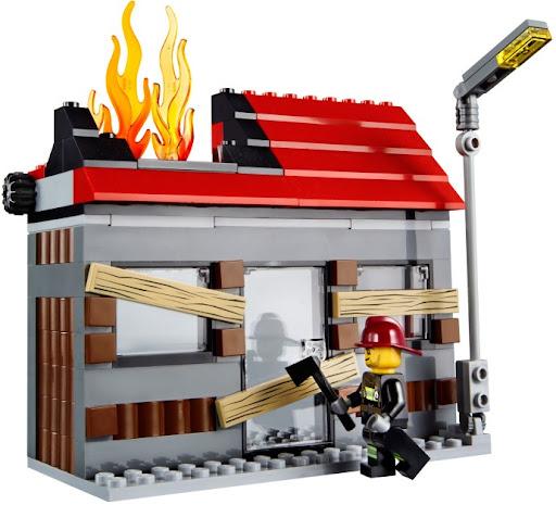 60003 レゴ ファイヤートラックとハウス