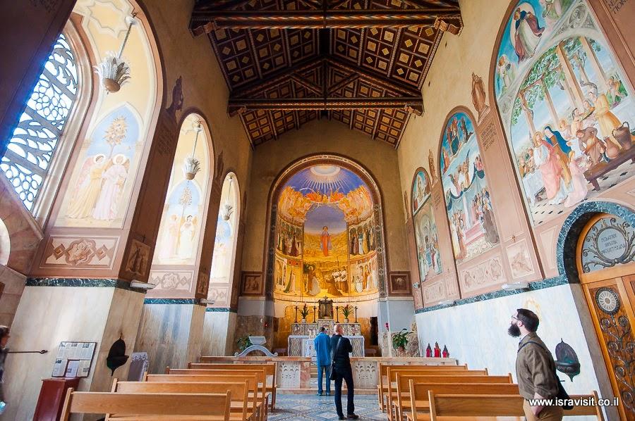 Церковь Посещения или Встречи, верхняя церковь. Экскурсия в монастыри и церкви в окрестностях Иерусалима.