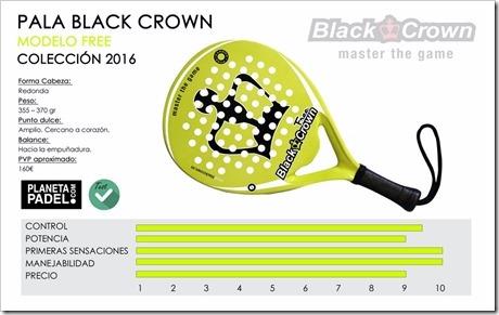 Pala Black Crown FREE 2016: control, confort y manejabilidad para el que la empuñe.