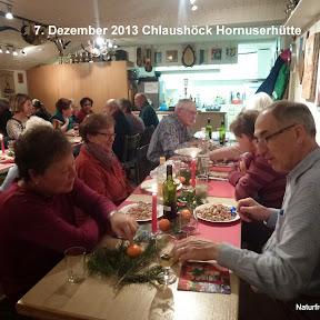 7. Dez. 2013 Chlaushöck Hornuserhütte