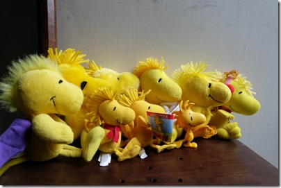 Woodstock plush family