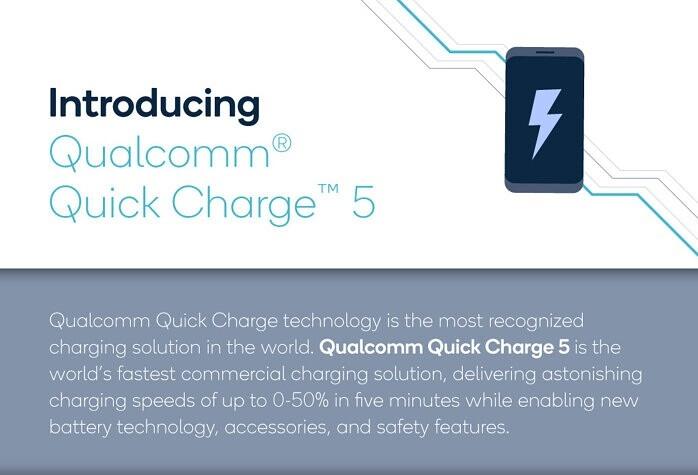 ทำความรู้จัก Qualcomm Quick Charge 5.0 ชาร์จไวกว่า 100W เย็นกว่าเดิม 10% และชาร์จเต็มในเวลา 15 นาที