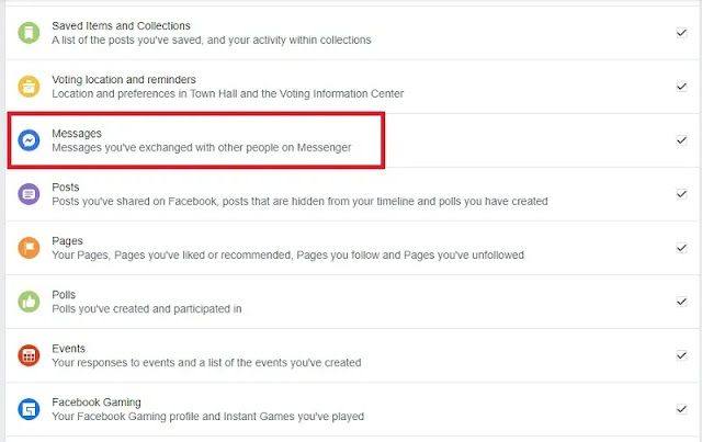 كيفية تنزيل محفوظات الدردشة على Facebook لحفظ معلومات Facebook بأمان اختر