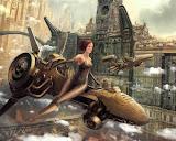 Girl On The Flying Bike