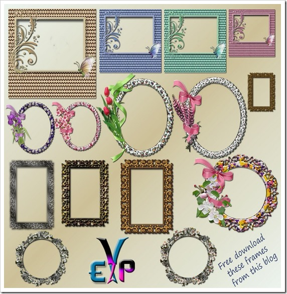 Multi design frames png