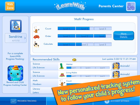 iLearn With Parents Center Tracking