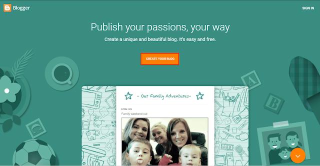 "Klik Tombol ""Create New Blog"" Untuk Membuat Blog Baru"