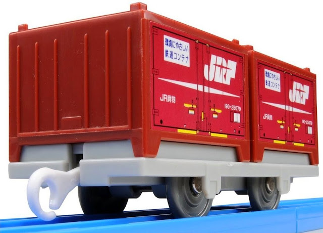 Hình ảnh Toa tàu hỏa chở container KF-06 Type 19G Container thật sinh động đẹp mắt