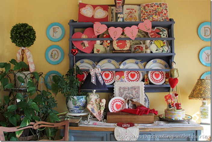 Valentine Decor in the Sunroom