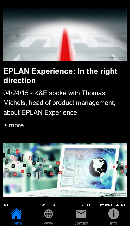 EPLAN Info Center- screenshot