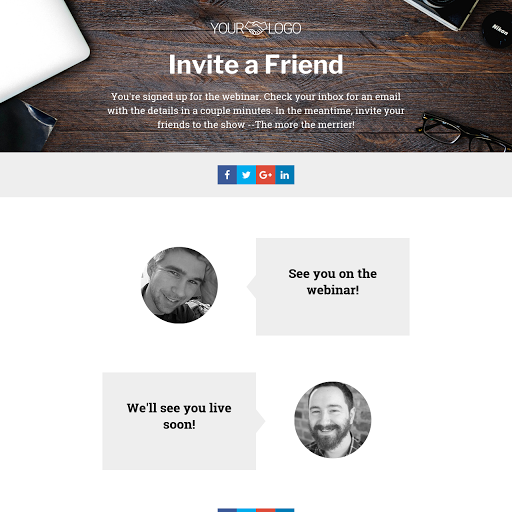 Invite a Friend - Thank You Page