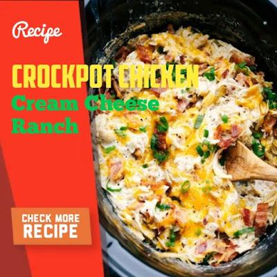 Crockpot Chicken, Cream Cheese Ranch