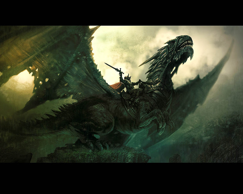 Knight On Flying Dragon, Dragons