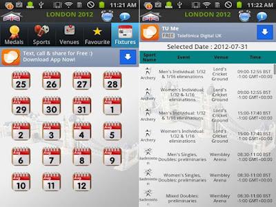 """""""london 2012 app"""""""