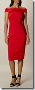 Karen Millen Bardot Shoulder Red Dress