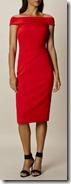 Karen Millen Bardot Shoulder Red Dress