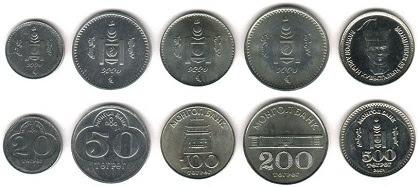 mata uang tugrik mongolia logam atau koin